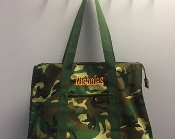 Personalized Camo Oversized Tote Bag
