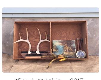Trunk Insert - Large Tray - Ottoman Tray - Liquor Tray - Wood Tray - Wooden Tray - Farmhouse Decor - Handled Tray - Wooden Shelf -