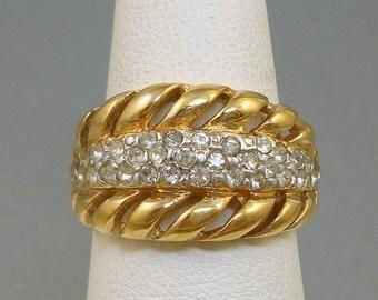 Vintage Rhinestone Ring