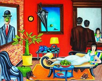 Print, Art print, Magritte print, Magritte, Fine Art print, Modern art, Surrealism, Wall art