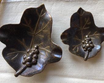 Leaf Ashtrays - Price for 2