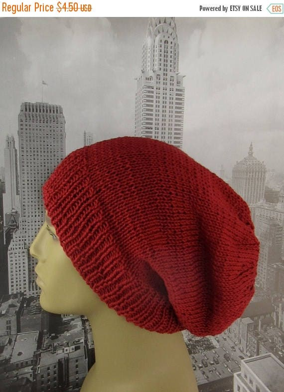50% OFF SALE Instant Digital File pdf download Knitting Pattern - City Slouch hat knitting pattern by madmonkeyknits