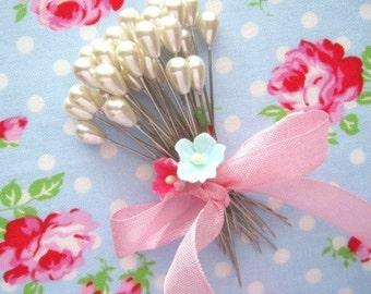 Corsage Pins - Teardrop Pearl - Set of 20