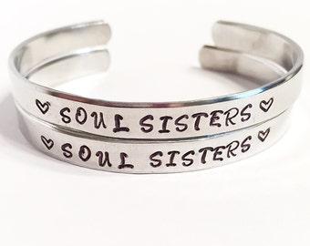 Soul sisters set of 2 bracelets. Soul sisters bracelets. Soul sisters bracelet set. Matching bracelets. Friendship bracelets Friendship gift