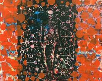 "Untitled #6 (38""x48"" monotype/screenprint on birch wood panel)"