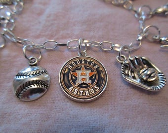 Astros Charm Bracelet All Charms Baseball Related