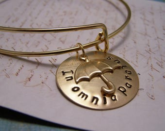In Omnia Paratus Bracelet.G.Ready For Anything: Gilmore Girls. Rory. Logan. Life and Death Brigade. Adjustable