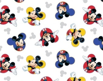 DISNEY MICKEY The One & Only - Springs Creative - cotton quilt fabric # 63316G550715 - mickey mouse fabric - black white red
