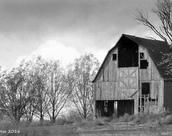 Barn Photo - Barn Photography - Black And White Barn Photo - Landscape Photography