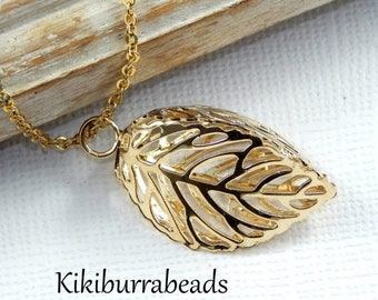 Mothers Day Sale Leaf Necklace,Gold Leaf Necklace,Leaf Jewelry,Botanical Jewelry