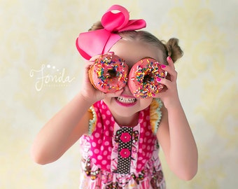 Girls Doughnut Love Dress- Melon Monkeys 2017 Collection