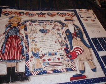 America the Beautiful Sewing Quilt Panel  Size 35 X 35