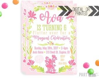 Fairy Invitation | Digital or Printed | Magical Fairy Invitation | Fairy Birthday Invitation | Fairy Invite | Fairy Printables