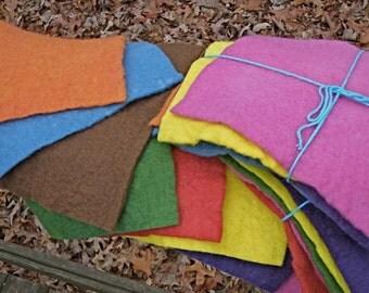Kinder Felt--100% Wool--8 Sheets--Plant Dyed--Soft Felt