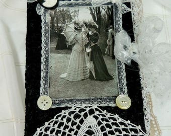 Handmade Junk Journal Junque - Keepsake - Diary - Notebook - Memory book - Victorian - Large