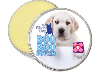 Labrador Retriever Boo Boo Butter Handcrafted Moisturizing Balm for Itchy Skin Irritations and Dog Discomforts 1 oz Tin with Lab Puppy Label