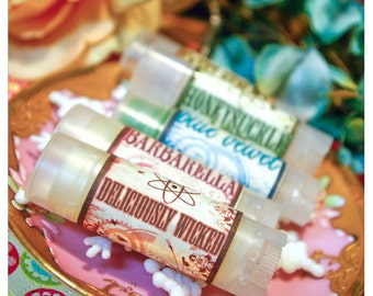 deliciously wicked - chocolate mint lip embellishment - housed in nifty frosted dispenser