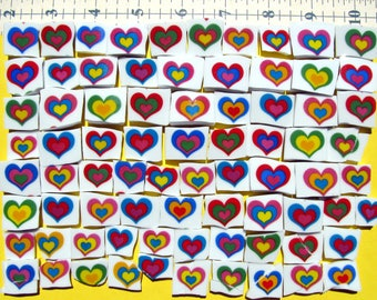 Rainbow Hearts 77 Broken China Mosaic Tiles