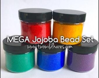 MEGA Jojoba Bead Set, 5 Colors, 4 oz each (20 oz)