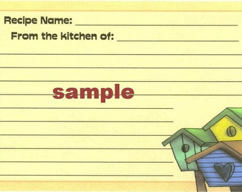 Country Birdhouses Recipe Cards ~ R5