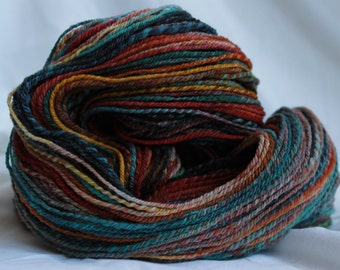 Hand spun 3 ply polworth 115 grams 4.1 oz 308 yards worsted weight #71