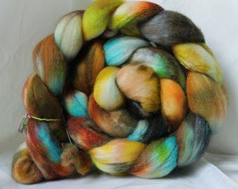 Hand painted Polworth silk 4.2 oz/118 grams # 98