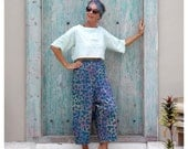RAYON, Culottes, Cropped  Pants, Loose Fitting Pants, Elasticised Waist, Made to Order, S-2X