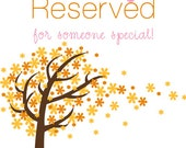 Reserved for Mary Grace
