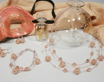 Murano glass Sets Pink color
