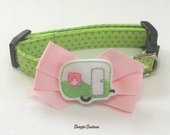Let's Go Camping Dog Collar Size XS through Large by Doogie Couture Pet Boutique