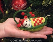 Little Mouse sleeping in a Leaf PDF Email Knit PATTERN