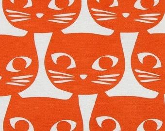 Tissu chats orange amusants  tissu épais design Scandinave