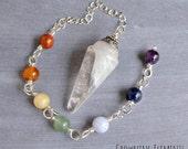 CUSTOM ORDER for Gianina L. ~ Clear Quartz Chakra Pendulum