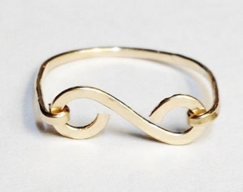 Gold Ring  Scroll Ring  14K Gold Filled Ring 14K Gold Jewelry