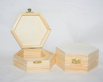 """Unfinished Pine Novelty Box with Hinged Lid 4-7/16"""" Lx2-1/4"""" T, Wood Box, Box with Lid, Wood Box Unfinished, Wedding Wooden Box, Craft Idea"""