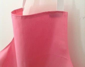 BEST SELLER- Small Fitted Baby Pink Full Apron, Lots of Colours Available, Art Apron, Childs/ Adult Apron, Australian Made, Bulk Aprons