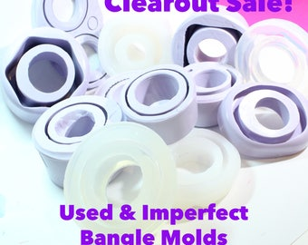 CLEARANCE Used or Imperfect Bangle Molds; Bulk Bag