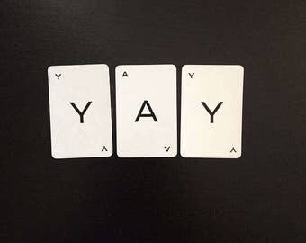 Customizable personalized party single letters you choose vintage board game cards