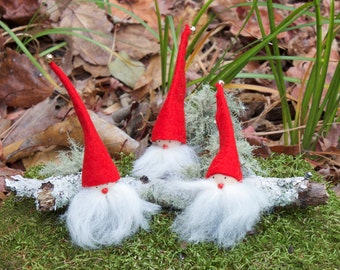 Handmade Swedish Elf / Gnome / Tomte Figurine - Scandinavian Christmas