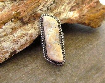 Vintage AJ Andrew Johnson Navajo Sterling Silver Long ring size 7.5