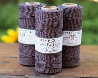 Dark Brown Hemp Cord, Hemp Twine, 1mm, 205 Feet, Macrame Cord, Twine Hemp -T31