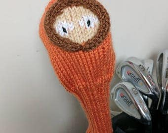 Kenny, South Park, Golf club cover, golf headcover, golf club headcover, golf head cover, unique golf gifts, driver cover, gifts for men