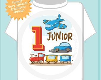 Transportation Birthday party - Transportation Birthday shirt - Plane Train Automobile Transportation birthday party theme 03072017a