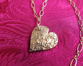 Valentine's Heart made from Fine Silver