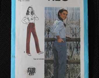 Vintage Simplicity Sewing Pattern #9120 Young Girls Jr/Tenn Pants-Size 15/16