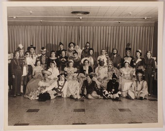 Vintage Masquerade Costume Party Photograph - G. Wallis Photographer - GE Television Promo