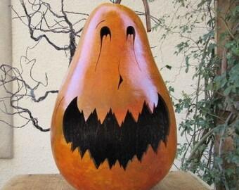 Halloween Gourd XLarge Jack O Lantern Primitive Pumpkin Decoration