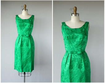 1950s Brocade Dress | 50s Wiggle Dress | 1950s Holiday Dress | 50s Dress | 1950s Sheath Dress | 50s Cocktail Dress