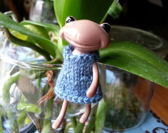 Fortune Wanda Friend - knit dress - coutry blue - Wanda Frog - Wonder frog