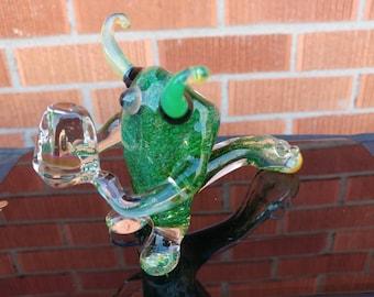 Chrystal Carrying Multi Green Slyme Horned Kooky Monster - Ready to Ship!!!